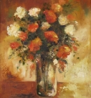 antique-shades-of-orange-Floral-Still Life-