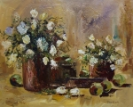 Flowers and Fruit-Still Life