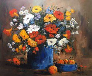 Blue Vase & Daisies 1200x1000