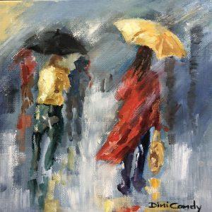 Rain on my Umbrella 200x200mm