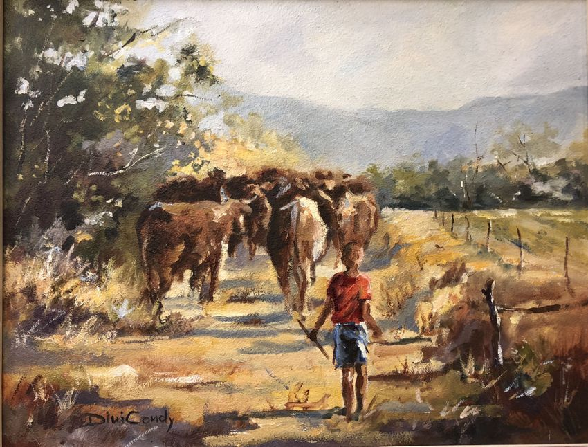 To New Pastures - 450x350mm