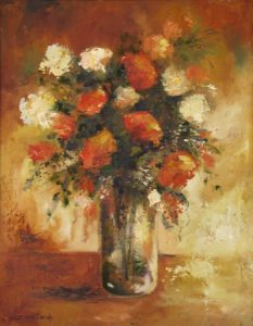 antique-shades-of-orange-Floral-Still Life-
