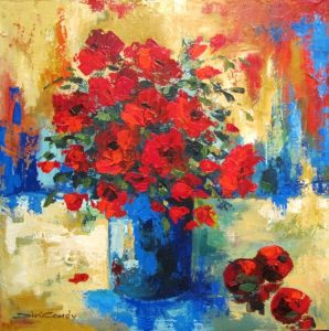 brushes-of-reds-on-blues-760x760mm-2013a