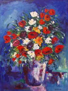 Floral Still Life-vase-with-a-touch-of-purple