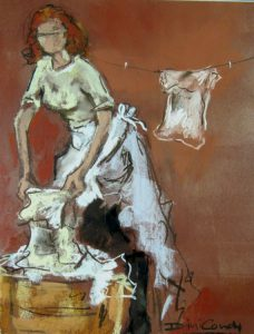 washing-lady-rinsing-pastel-2013