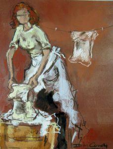 washing-lady-rinsing-pastel-2013