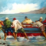 091. Catch the Next Wave - Fishhoek. 1010x760. oils. 2010