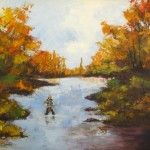 IMG_7225. Fly Fishing in Autumn. Oils 2012
